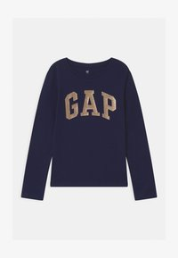 GAP - GIRL VALUE LOGO - Top sdlouhým rukávem - navy uniform - 0