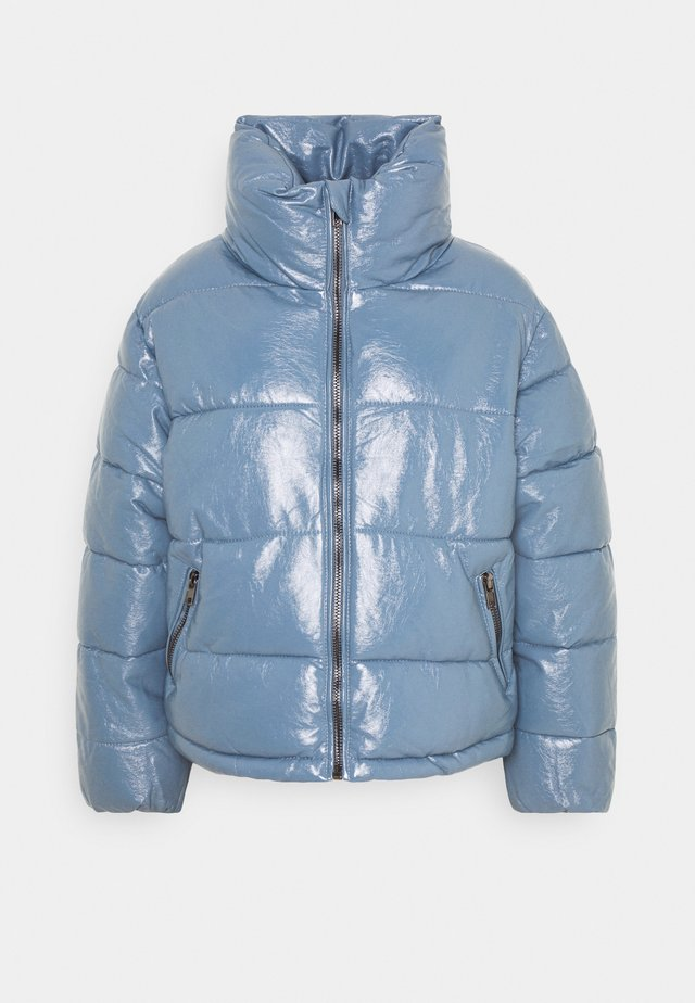 PUFFER JACKET WITH SIDE DRAWSTRINGS - Winter jacket - blue