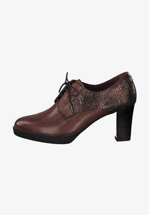 Lace-up heels - chestnut/struc 388