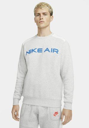 AIR CREW - Sweatshirt - grey heather/summit white/infrared