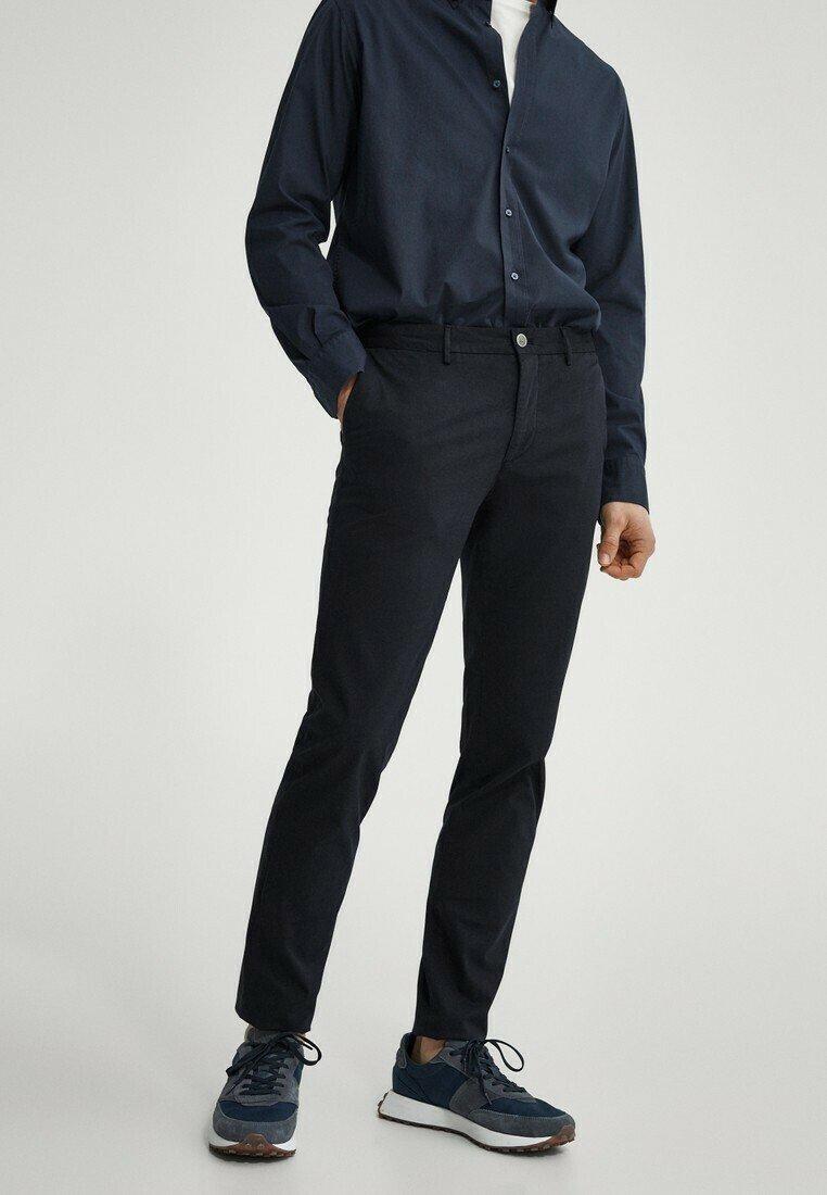 Massimo Dutti - SLIM FIT - Chinos - blue-black denim