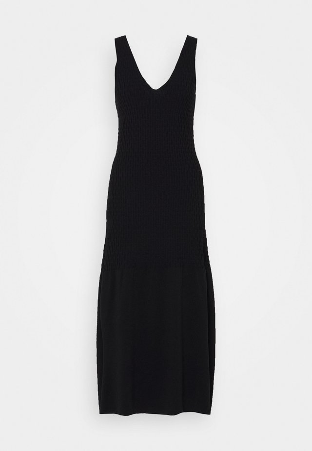 GEMMA - Strikket kjole - black