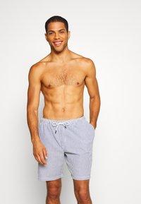 Jack & Jones - JJIARUBA SEERSUCKER  - Swimming shorts - navy blazer - 0