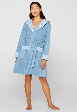 MIT STREIFEN - Dressing gown - sky blue