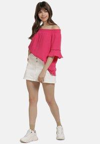 myMo - OFF-SHOULDER BLUSE - Blouse - pink - 1
