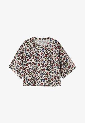 Print T-shirt -  multi coloured animal print
