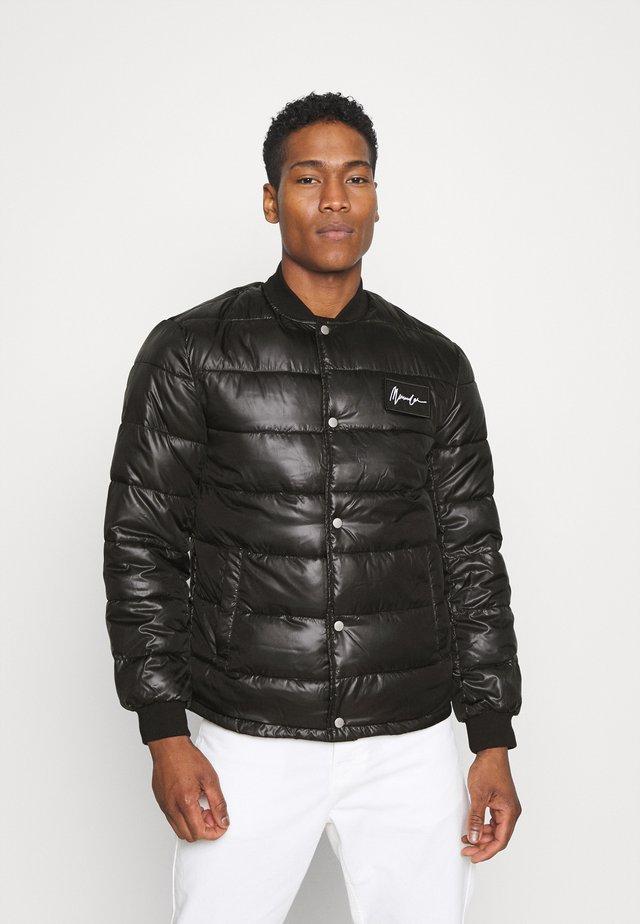 LIGHT FILL PUFFER BOMBER - Light jacket - black