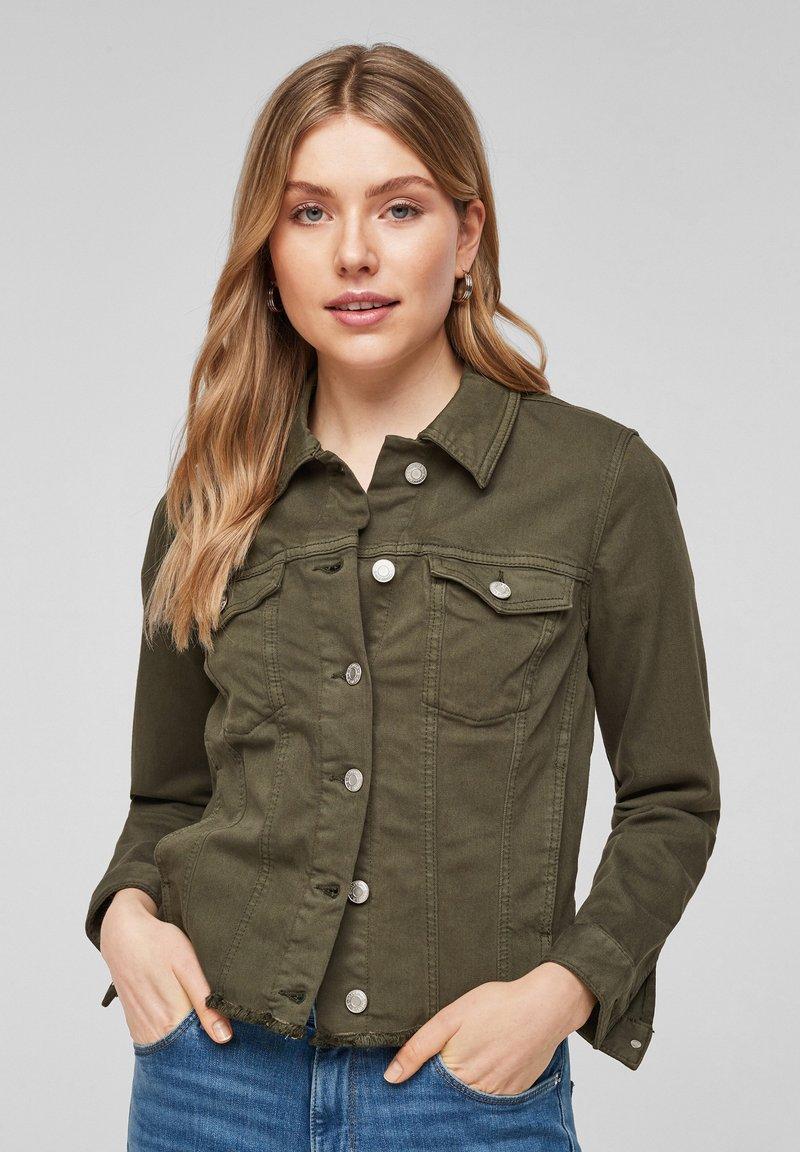 s.Oliver - Denim jacket - khaki