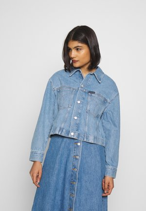 CROPPED OVERSIZED TRUCKER - Jeansjacke - light blue