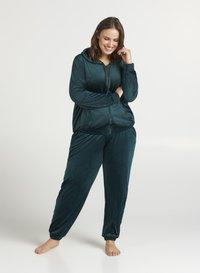Zizzi - SAMT - Zip-up hoodie - dark green - 1