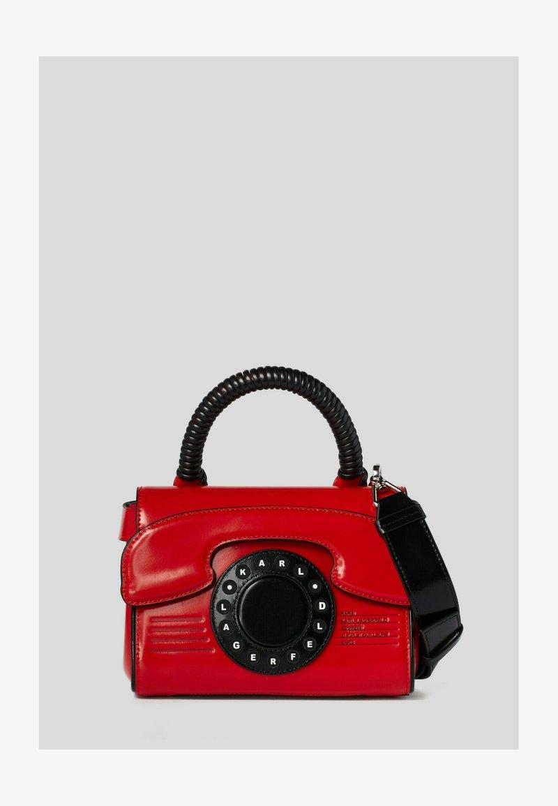 KARL LAGERFELD - TELEPHONE  - Handbag - red, white, black