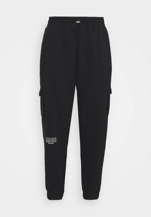 PANT - Cargo trousers - black/white