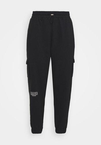 PANT - Cargo trousers - black/white