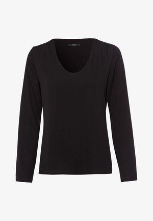 MIT TRANSPARENTEN ÄRMELN - Long sleeved top - black