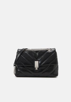 RHILADIA - Across body bag - jet black/silver-coloured