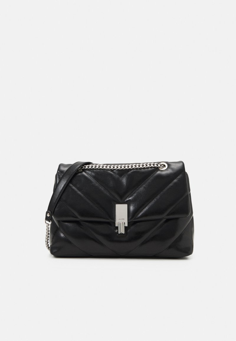 ALDO - RHILADIA - Across body bag - jet black/silver-coloured