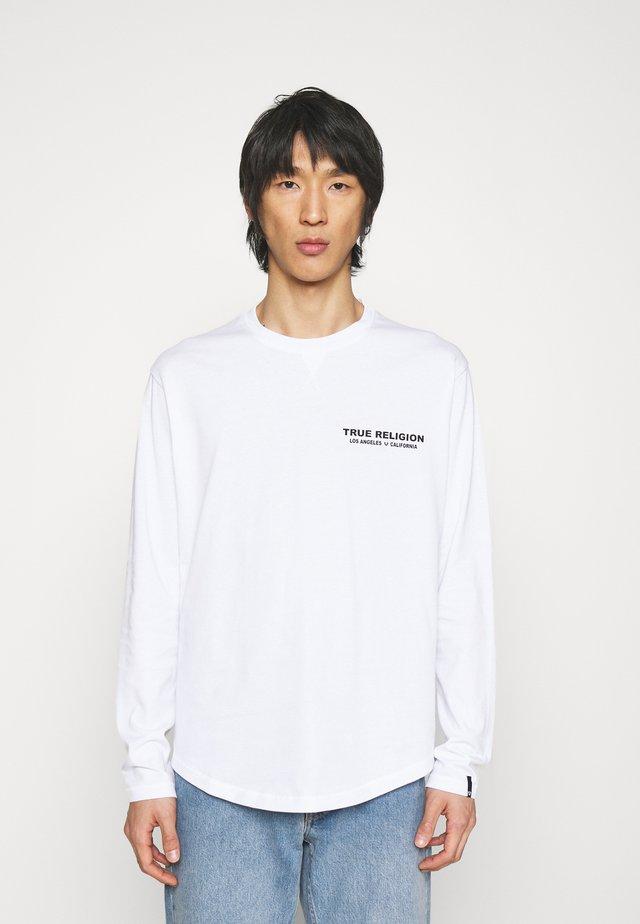 Top sdlouhým rukávem - on back white