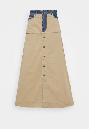 MISTY SKIRT - Maxi skirt - beige/blue denim