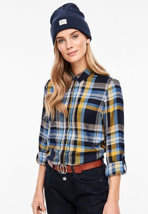 LANGARM - Button-down blouse - dark blue