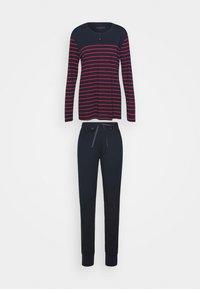 Schiesser - LANGER SCHLAFANZUG SET - Pyjamas - blau/rot - 5