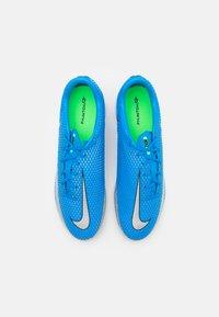 Nike Performance - PHANTOM GT ACADEMY IC - Indoor football boots - photo blue/metallic silver/rage green - 3