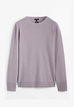 MIT RUNDHALSAUSSCHNITT - Sweter - mauve