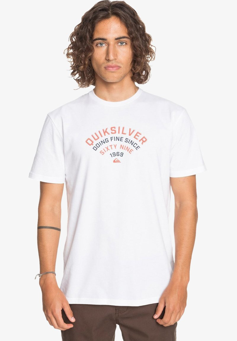 Quiksilver - UP TO NOW - Print T-shirt - white