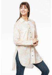 Rosa & Me - Button-down blouse - braun/weiß - 4