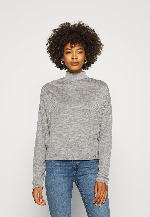 CHAHIDA - Long sleeved top - light melange grey