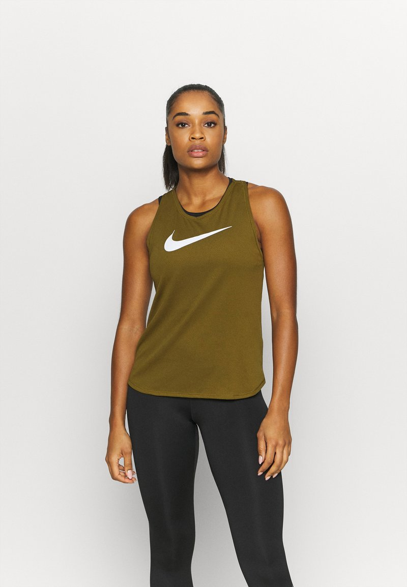 Nike Performance - RUN TANK - Funktionsshirt - olive flak/white