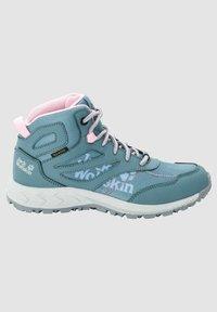 Jack Wolfskin - WOODLAND TEXAPORE MID K - Hiking shoes - grey pink - 5