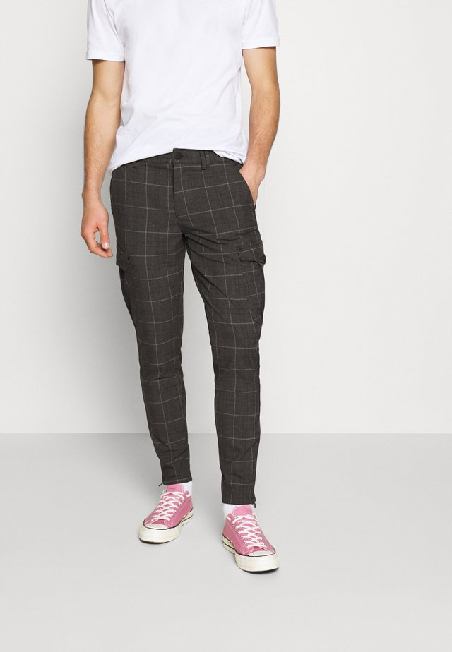 PISA NILI CHECK PANT - Cargobroek - brown