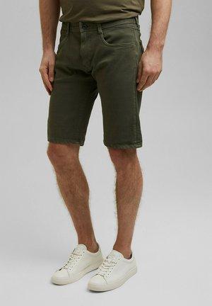 Denim shorts - olive
