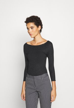 Long sleeved top - black/metallic