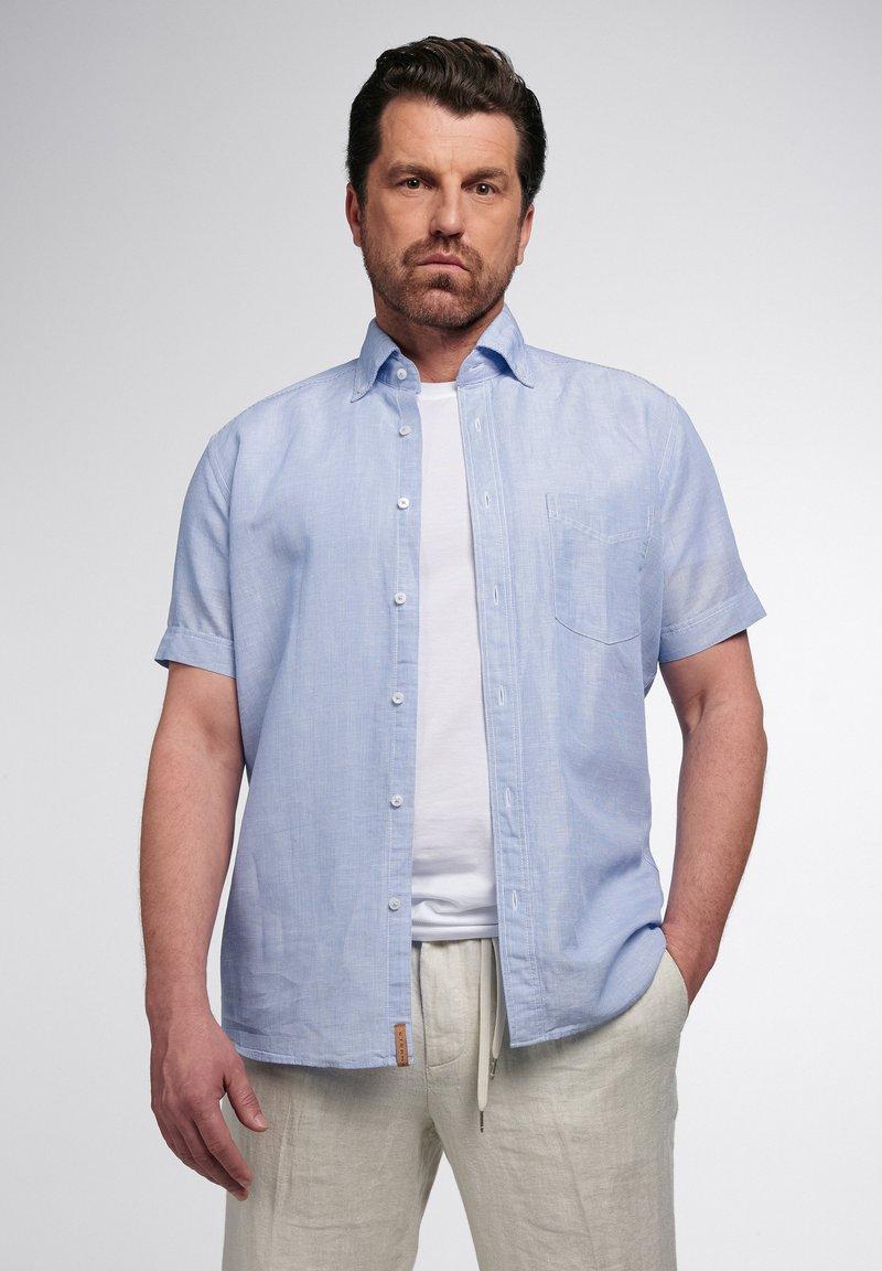 Eterna - REGULAR FIT  - Shirt - hellblau/weiß
