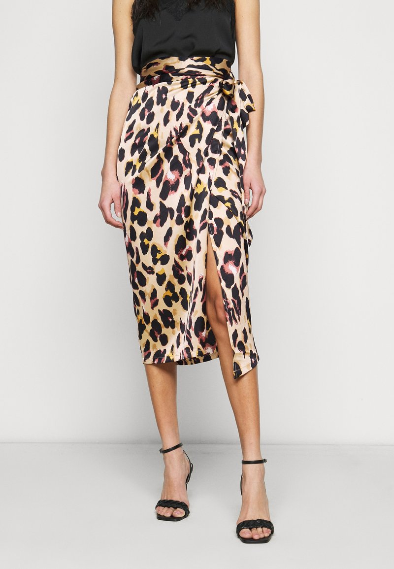 Never Fully Dressed Tall - ARTIST PRINT JASPRE SKIRT - Wrap skirt - brown