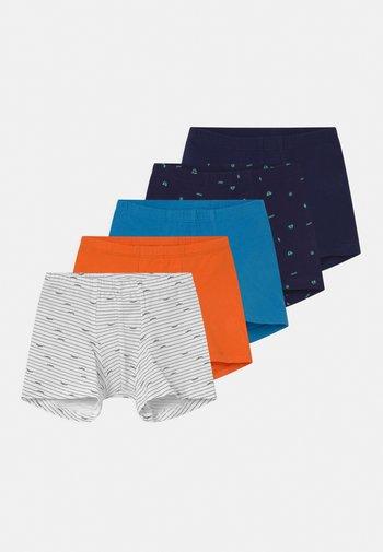 SHORTS 95/5 5 PACK - Pants - blue