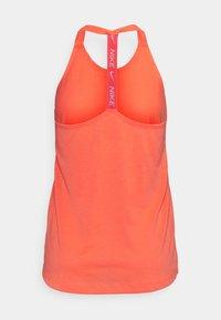 Nike Performance - DRY ELASTIKA TANK - Sportshirt - bright mango/white - 6