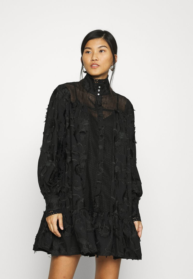 Custommade - ELORIE - Day dress - anthracite black
