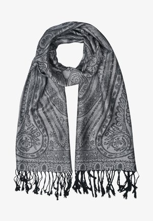 Sjal / Tørklæder - mehrfarbig gem. foto: schwarz & grau