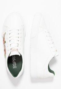 Esprit - CHERRY EMBRO VEGAN - Sneaker low - white - 3