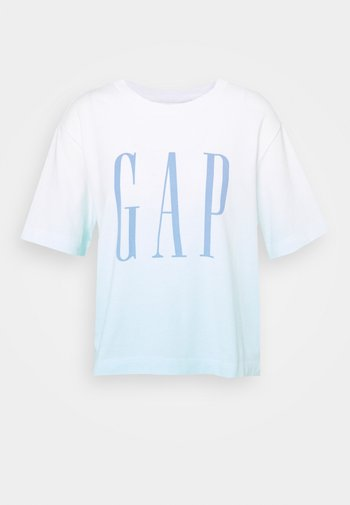 BOXY TEE - Print T-shirt - blue
