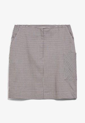 SIGRIDAA PKT MICROCHECK - A-line skirt - kitt
