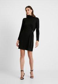 Great Plains London - TAMARA TIE - Jumper dress - black/gold - 2