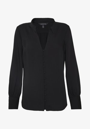 BUTTON FRONT RELAXED BLOUSE - Blouse - black