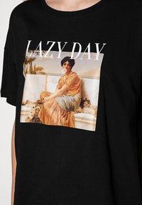 Even&Odd - T-shirt z nadrukiem - black - 4