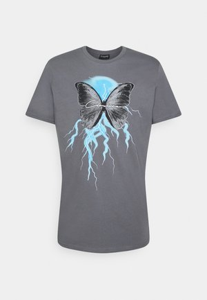 BUTTERFLY TEE - Print T-shirt - slate grey