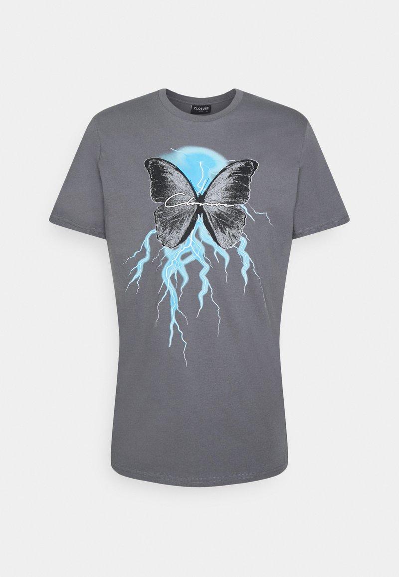 CLOSURE London - BUTTERFLY TEE - Print T-shirt - slate grey