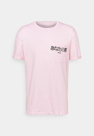 POCKET - Triko spotiskem - pink