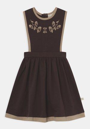 CHARMED PINAFORE DRESS - Day dress - deep brown